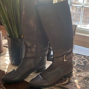 Nine West black flats boots size 8 1/2